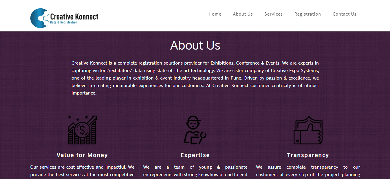 Unitrust It Company Portfolio WordPress Website Creative Konnect